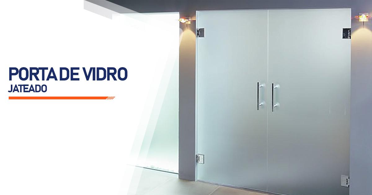 Porta De Vidro Jateado Barueri