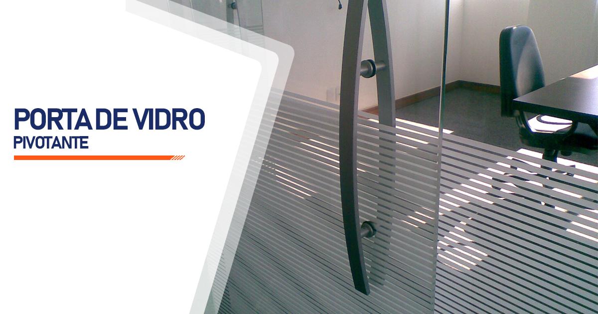 Porta Pivotante De Vidro Barueri